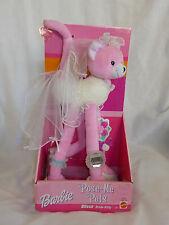 "Barbie Pose Me Pets Blissa Bride Kitty 2002 Mattel NIP Pink Multi 12"" X 5.5"" X3"""