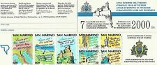 San Marino Stronghold Coat of Arms Arms European Year of Tourism ** 1990 Booklet