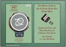 Royale Classic Car Badge + Bar Clip - VESPA ANNIVERSARY 70 YEARS GREY - B1.2913