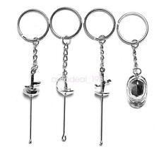 Gift Fencing Hanging Keyring Keychain Mask Foil Epee Sabre Ornament Pendant