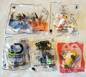 5 Sealed McDonald's Happy Meal Toys 2019- 2020 Hot Wheels, Peanuts, Minnie Mouse