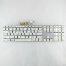 Genuine Apple A1243 Wired Aluminum Keyboard with Numeric Keypad USB Full Sized