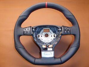 LENKRAD VW GOLF 5 V 6 7 GTI  NEU BEZIEHEN Leder/Alcantara