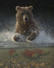 "Collin Bogle /""Legend of the Fall/"" Bear Print  Image Size 28/""W x 22/""H"