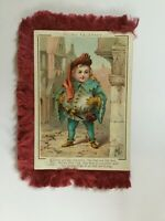 Antique Shakespeare Christmas Card Victorian Silk Fringe 4 Scenes Signed ML