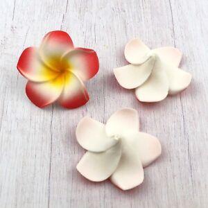 100pcs 6cm Foam Floating Frangipani/Plumeria/Hawaiian Flower Head 10 colors