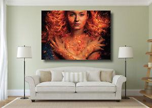 Dark Phoenix X-Men Movie Large Poster Wall Art Print - A0 A1 A2 A3 A4 Maxi