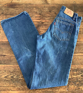 VINTAGE LEVIS 717 JEANS STUDENT FIT MADE IN USA W25 L32