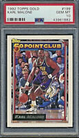 Pop 19 🔥1992 Topps Gold Karl Malone 50 Point Club PSA 10 #199