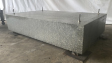 """72""""X44"""" X 16"""" GRAY DRILLED/TAPPED GRANITE SURF. PLATE WITH LEVEL BASE: YB#10985"""