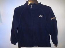 New Youth Pro Edge Akron Zips Fleece Jacket Blue Full Zipper Size Medium 8-10