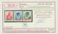 SAN MARINO 1952 Garibaldi filigrana ruota III, nuovi GI, certificato / P26866