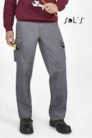 Pantalone Sols con ginocchiere 80600 grigio lavoro meccanico ESTIVO tg. M