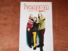 "1997 CASSETTE SINGLE HANSON- WHERE""S THE LOVE- AS NEW"