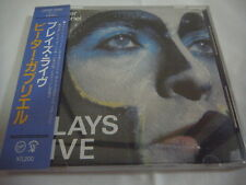PETER GABRIEL-Plays Live JAPAN 1st.Press w/OBI 32VD-1046 Genesis King Crimson
