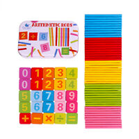 Wooden Counting Sticks with Number Cards & Box Math Educational Toy for Kids