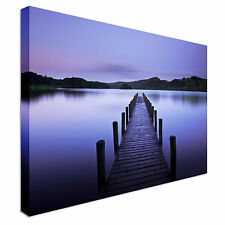 Pier Lilac Canvas Wall Art Picture Print