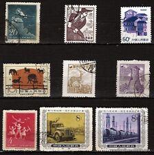 153 CHINA 9 sellos matasellados:temas diversos