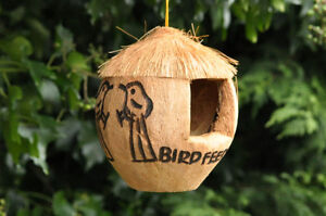 bird feeder coconut bird feeder wild bird food shabby chic