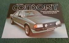 1981 FORD GRANADA 2.0 2.3 CONSORT Saloon - UK COLOUR FOLDER BROCHURE - FA516