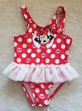 New listing Infant Girls Disney Minnie Mouse One Piece Tutu Skirt Swimsuit Size 6-9 Months