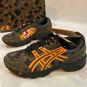 Bape x Asics A Bathing Ape Size 6.5 GEL-1090 Tiger Motif Sneakers Camo Shoes NIB