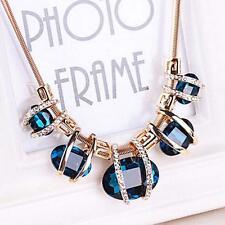 Women Fashion Chain Crystal Choker Chunky Statement Necklace Pendant Jewerly GH