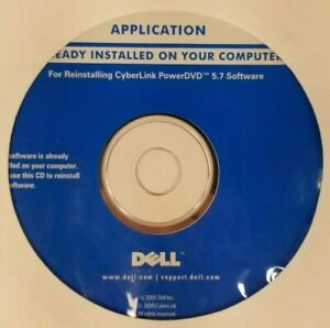 Dell CyberLink PowerDVD 5.7 Software For Reinstalling Brand New Factory Sealed