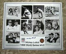 Detroit Tigers Mickey Lolich 1968 World Series MVP SIGNED Photo Collage 16 x 20