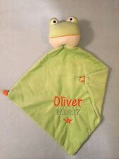 NEW Personalised Cubbies FROG Blankie Baby Girl Boy Comforter Blanket Fab GIFT