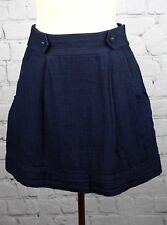 Urban Outfitters Staring at Stars Nautical Mini Skirt Sz 4 Navy Blue Cotton
