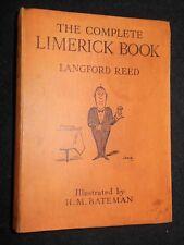 Complete Limerick Book - Langford Reed/H M Bateman - 1925-1st - Humourous Rhymes