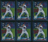2018 Topps Chrome Update Set Gleyber Torres 6 Card RC Lot #HMT26 Rookie Yankees