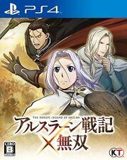 USED PS4 Arslan Senki X Musou Koei Tecmo Games Free Shipping Japan Import F/S