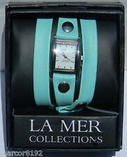 Wanderlust by La Mer Collections Watch Women Wristwatch Triple Wrap Mint new