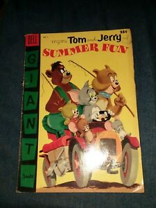 Tom and Jerry's Summer Fun 2 dell giant 1955 golden age cartoon comics 100 pages