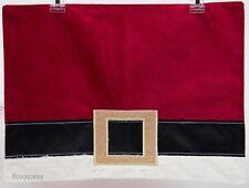 New listing Christmas St Nicholas Square 2 Red Santa Belt Placemat 18x13 Nwt