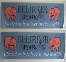 இ Bière Beer Delirium Tremens Affiche Tissus 2,40m/80 à voir இ Elephant rose