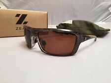 ZEAL OPTICS SUNGLASSES ALL IN 10030 BROWN GLOSS WITH COPPER POLARIZED LENS