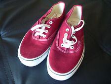 Vans Auténticas Para Hombre Borgoña Zapatillas De Lona Con Cordones Zapatos 6