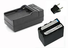 High Capacity Battery + Charger Kit for Sony NP-F960 NP-F970 NP-F750 NP-F550