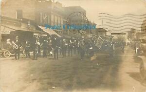 Kansas, KS, Kinsley, IOOF Parade PM 1912 Real Photo Postcard