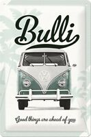 VW BUS BULLI T1  * GOOD THINGS * VOLKSWAGEN * BLECHSCHILD * RETRO * 20X30 * NEU!