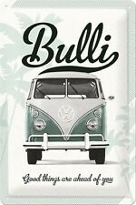 VW BUS BULLI T1  * GOOD THINGS * VOLKSWAGEN * BLECHSCHILD * RETRO * 20X30 * NEU!