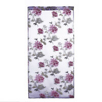 Floral Tulle Voile Door Window Curtain Drape Panel Sheer Scarf Valance Modern