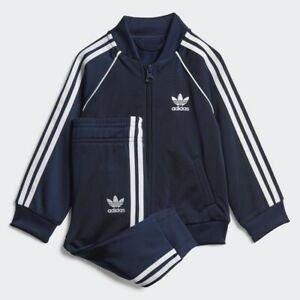 ADIDAS TODDLERS INFANTS SST NAVY/WHITE TRACKSUIT 4T NEW IN SEALED BAG RETAIL $50