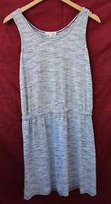 THYME AND HONEY medium gray and white Sleeveless DRESS, elastic waist...