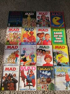 MAD 16 ISSUE LOT #230-245 VF Pacman Space Invaders MASH Rocky ET 1982 EC Comics