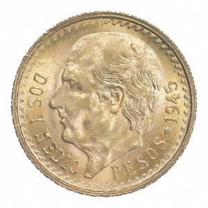1945 2 1/2 Pesos - Miguel Hidalgo y Costilla - Mexico Gold Coin *408