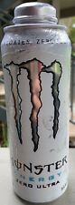 NEW MONSTER ENERGY ZERO ULTRA DRINK 24 FL OZ FULL CAN ZERO SUGAR & CALORIES